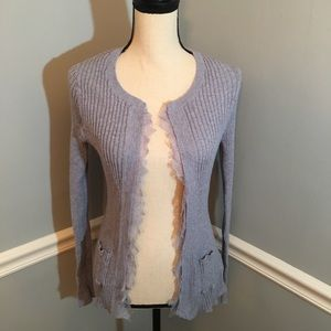 Anthropologie Knitted & Knotted Open Sweater (M)